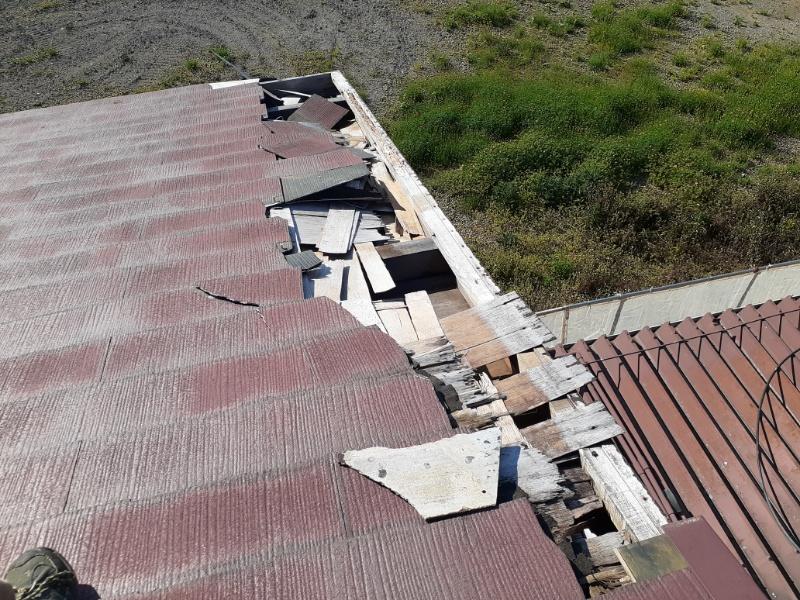 コロニアル屋根飛散箇所