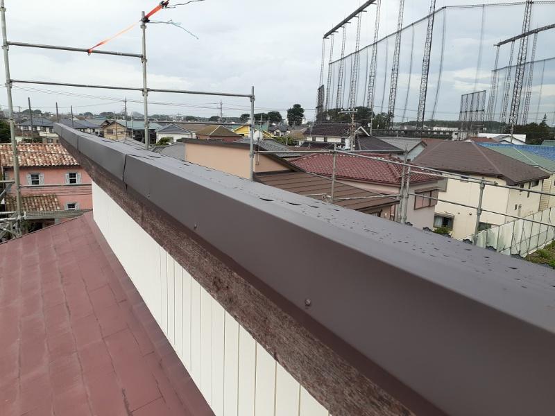 屋根カバー工法(棟)