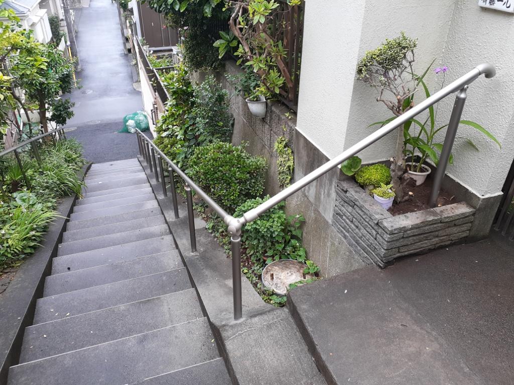 外部手すり取付 介護保険住宅改修(船橋市 S様)