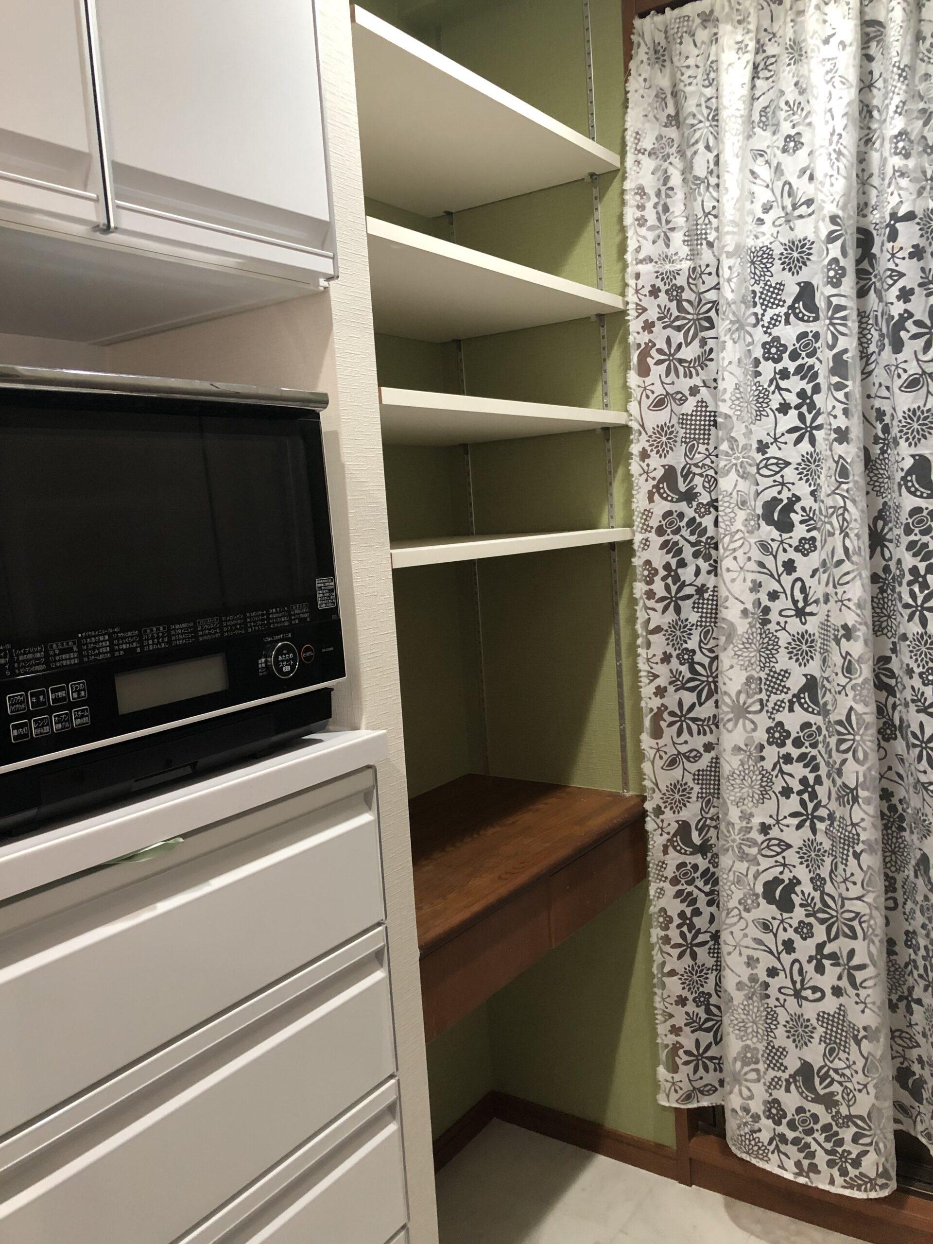 キッチン収納 可動棚